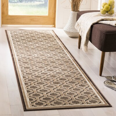 Martha Stewart Tufted / Hand Loomed Brown/Green Area Rug Rug Size: Runner 22 x 6