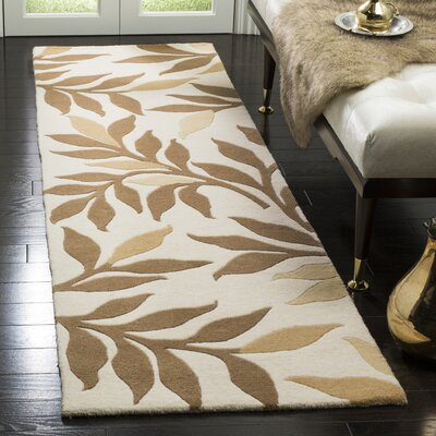 Martha Stewart Charleston Tufted / Hand Loomed Light Brown/Ivory Area Rug Rug Size: Rectangle 5 x 8