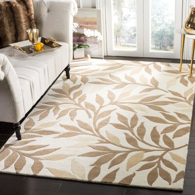 Martha Stewart Charleston Tufted / Hand Loomed Light Brown/Ivory Area Rug Rug Size: Rectangle 4 x 6