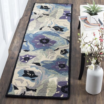 Hand-Tufted Blue Area Rug Rug Size: Rectangle 3 x 5