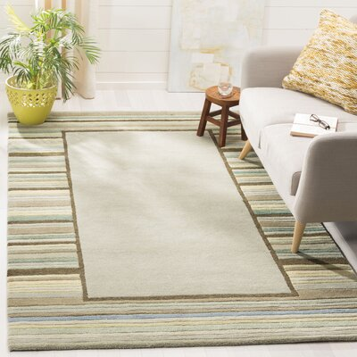 Hand-Woven Tadpole Green Area Rug Rug Size: Rectangle 5 x 8