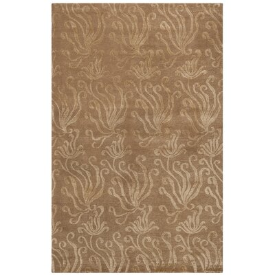 Seaflora Hand-Tufted Beige/Yellow Area Rug Rug Size: Rectangle 56 x 86