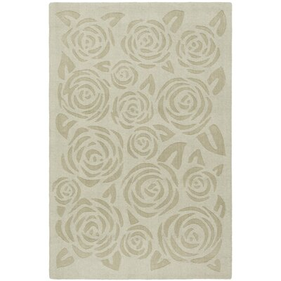 Block Print Rose Hand-Loomed Saguaro Area Rug Rug Size: Rectangle 4 x 6