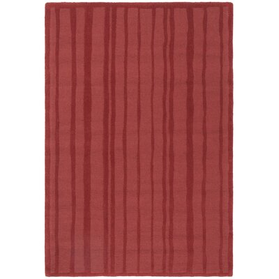 Freehand Stripe Hand-Loomed Vermillon Area Rug Rug Size: Rectangle 4 x 6