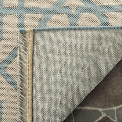 Triumph Sunken Blue/Beige Area Rug Rug Size: Rectangle 53 x 77