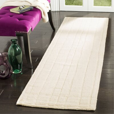 Freehand Stripe Hand-Loomed Fossil Area Rug Rug Size: Runner 23 x 8