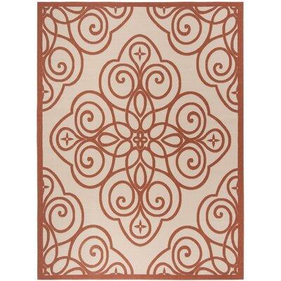 Martha Stewart Rosamond Red/Ivory Area Rug Rug Size: Rectangle 8 x 112