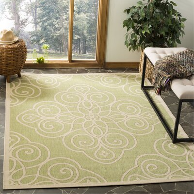 Martha Srewart Rosamond Green/Beige Area Rug Rug Size: Rectangle 53 x 77