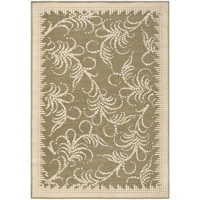 "Image of Martha Stewart Fountain Swirl Green/Ivory Area Rug Rug Size: Rectangle 5'3"" x 7'6"""