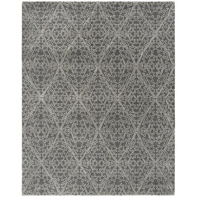 Strolling Garden Rock Garden/Grey Rug Rug Size: Rectangle 79 x 99