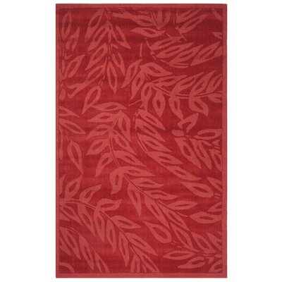 Breeze Hand-Loomed Vermillon Area Rug Rug Size: Rectangle 5 x 8