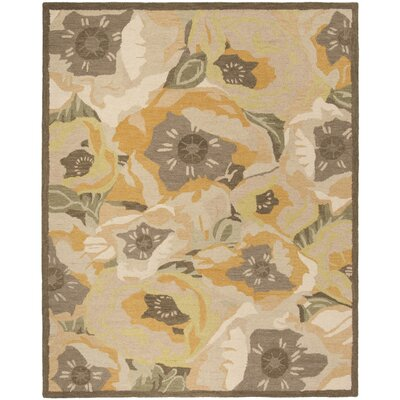 Hand-Tufted Gold Area Rug Rug Size: Rectangle 8' x 10'