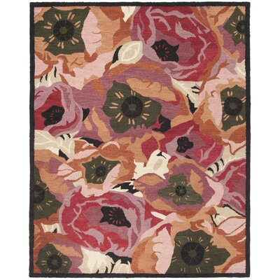 Martha Stewart Hand-Tufted Red/Brown Area Rug Rug Size: Rectangle 8 x 10