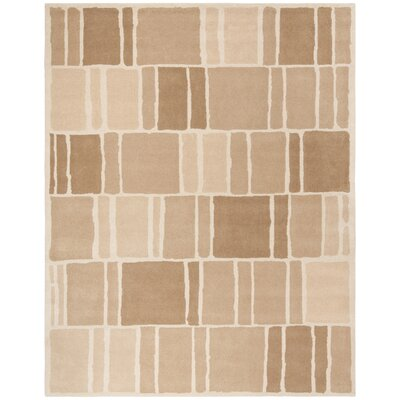 Blocks Hand-Loomed Camel / Ivory Area Rug Rug Size: Rectangle 8 x 10