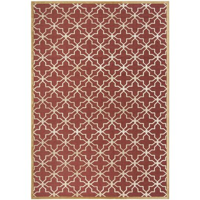 Star Gradient Red/Ivory Area Rug Rug Size: Rectangle 8 x 112