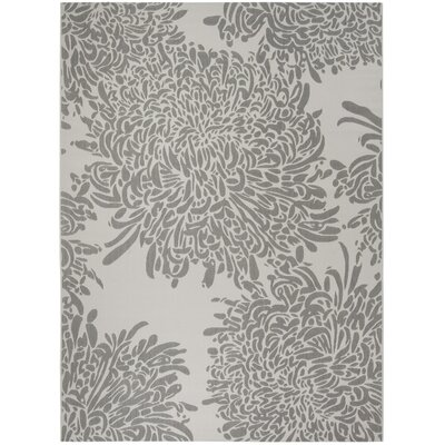 Chrysanthemum Gray Area Rug Rug Size: Rectangle 8 x 112