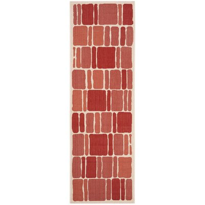 Martha Stewart Blocks Red Area Rug Rug Size: Runner 27 x 82