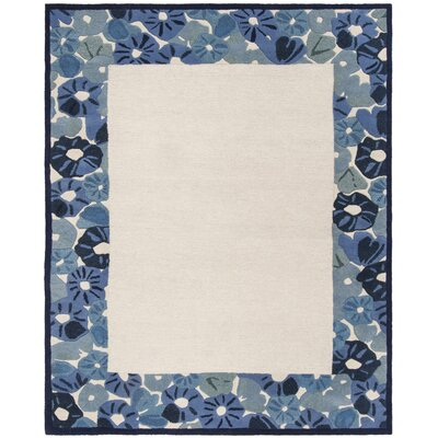 Martha Stewart Azurite Ivory/Blue Area Rug Rug Size: Rectangle 8 x 10
