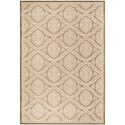 Hand-Loomed Taupe/Beige Area Rug Rug Size: Rectangle 8 x 112