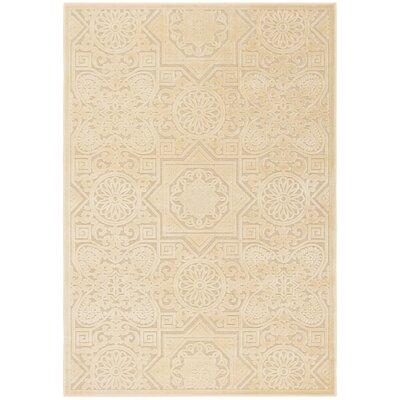 Wayfarer Hand-Tufted White/Beige Area Rug Rug Size: Rectangle 4 x 57