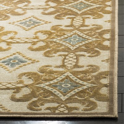 Martha Stewart Taupe/Cream Area Rug Rug Size: Rectangle 51 x 76