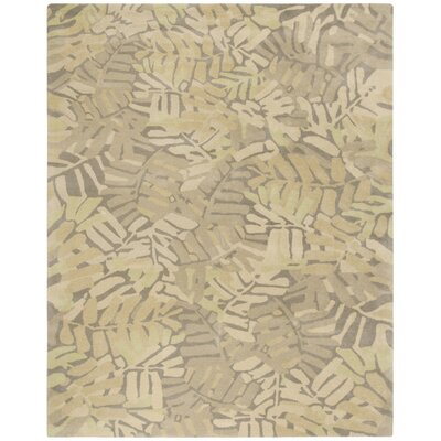 Palm Leaf Hand-Loomed Oolong Tea Area Rug Rug Size: Rectangle 8 x 10