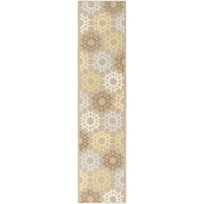 Floral Block Quilt Opal Grey Rug Rug Size: Runner 23 x 10