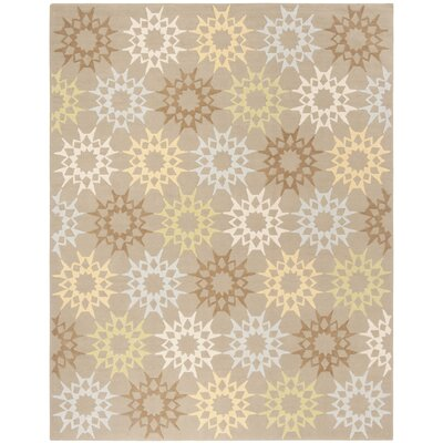 Floral Block Quilt Opal Grey Rug Rug Size: Rectangle 79 x 99