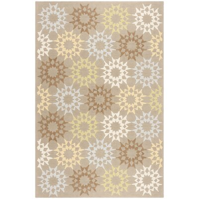 Floral Block Quilt Opal Grey Rug Rug Size: Rectangle 56 x 86