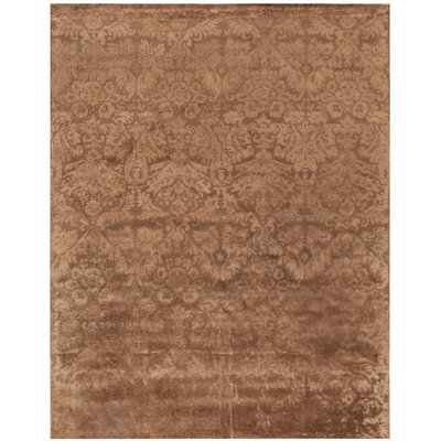 Damask Mahogany Rug Rug Size: Rectangle 79 x 99