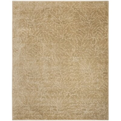 Sakura Hand-Tufted Light Brown/Cream Area Rug Rug Size: Rectangle 8 x 10