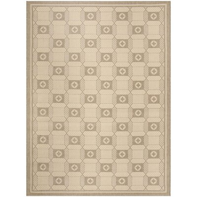 Grand Parquet Creme / Brown Area Rug Rug Size: Rectangle 8 x 112