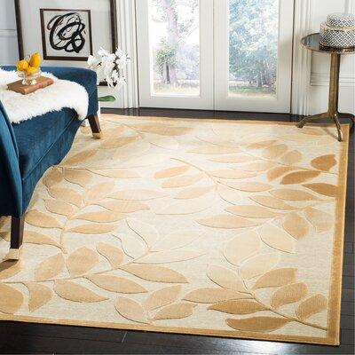 Martha Stewart Leafy Glade Heavy Cream Area Rug Rug Size: Rectangle 53 x 76