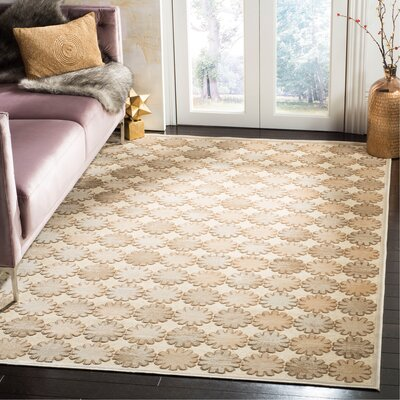 Martha Stewart Stone/Cream Area Rug Rug Size: Rectangle 51 x 76