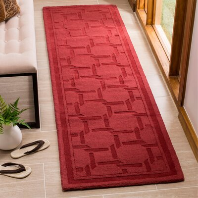 Resort Hand-Loomed Sealing Wax Area Rug Rug Size: Runner 23 x 8