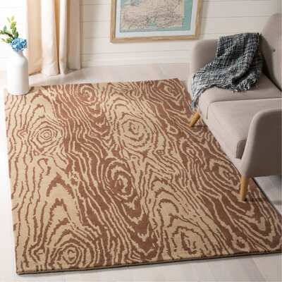 Layered Faux Bois Hand-Loomed Sequoia Area Rug Rug Size: Rectangle 5 x 8