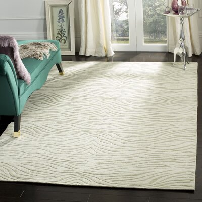 Journey Hand-Tufted Beige/Gray Area Rug Rug Size: Rectangle 56 x 86