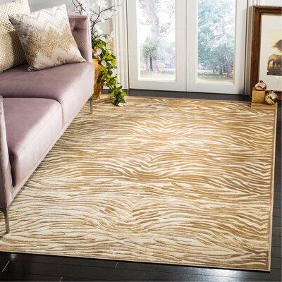 Martha Stewart Taupe / Cream Area Rug Rug Size: Rectangle 51 x 76