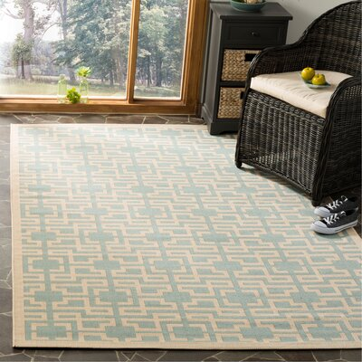 Martha Stewart Teal Area Rug Rug Size: Rectangle 53 x 77