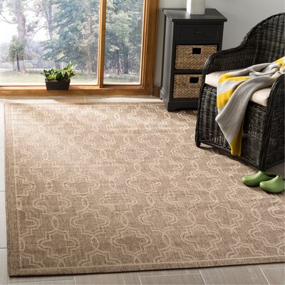 Martha Stewart Brown/Beige Area Rug Rug Size: Rectangle 53 x 77