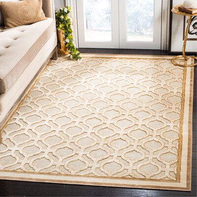 Martha Stewart Tufted / Hand Loomed Shortbread Area Rug Rug Size: Rectangle 53 x 76