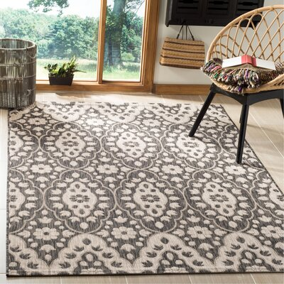 Regal Black/Beige Area Rug Rug Size: Rectangle 53 x 77