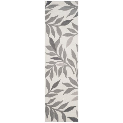 Charleston Tufted-Hand-Loomed Beige/Gray Area Rug Rug Size: Runner 23 x 8