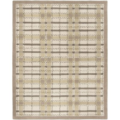 Colorweave Plaid Hand-Tufted Sharkey Gray Area Rug Rug Size: Rectangle 8 x 10