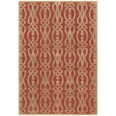 Villa Screen Red/Brown Area Rug Rug Size: Rectangle 4 x 57