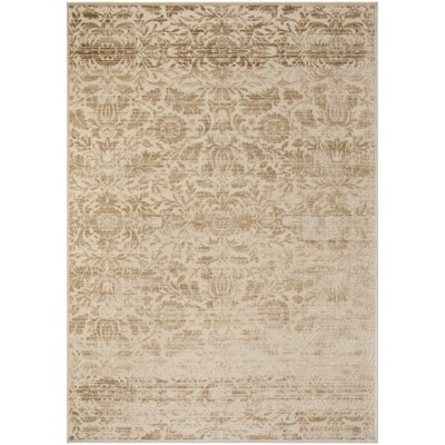 Heritage Bloom Beige/Brown Area Rug Rug Size: Rectangle 8 x 112