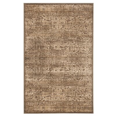 Soft Anthracite/Camel Area Rug Rug Size: Rectangle 27 x 4