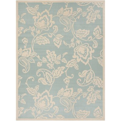 Berrima Aqua/Beige Area Rug Rug Size: Rectangle 8 x 112