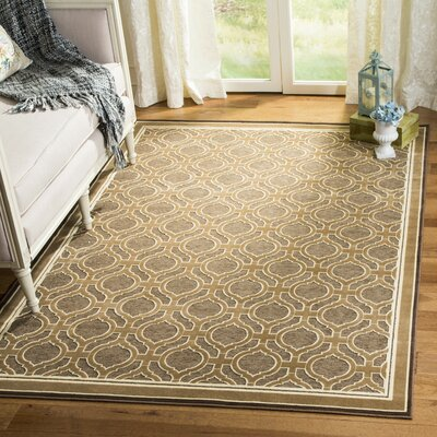 Martha Stewart Tufted / Hand Loomed Tan/Brown Area Rug Rug Size: Rectangle 67 x 92