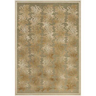 Plume Stripe Hand-Loomed Green Area Rug Rug Size: Rectangle 8 x 112